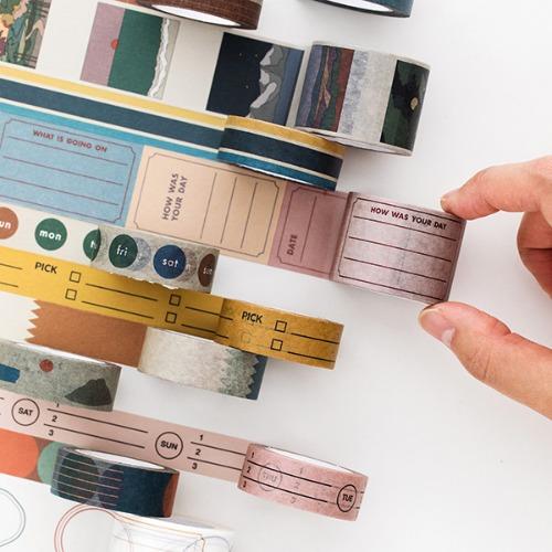 Life & Pieces Paper Tape (11 Color) - 15mm Set
