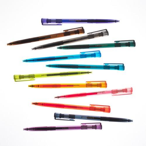Life & Pieces Transparent Gel Pen (13 Color)-05mm Set
