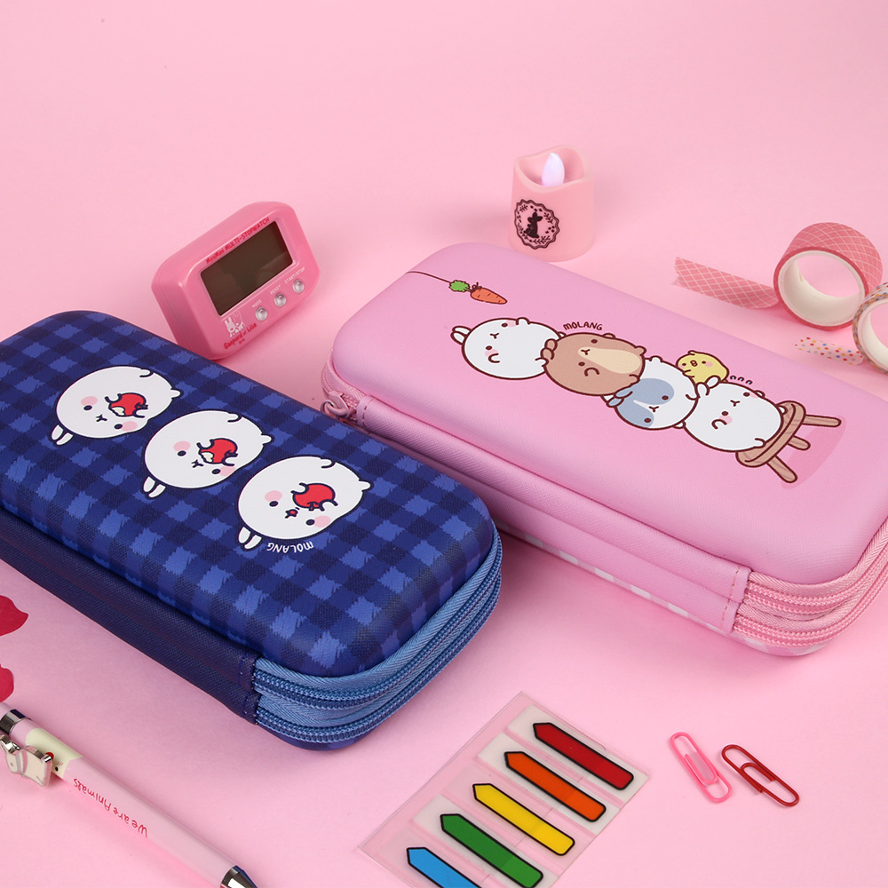Molang Two Zippered Roundish Square Case