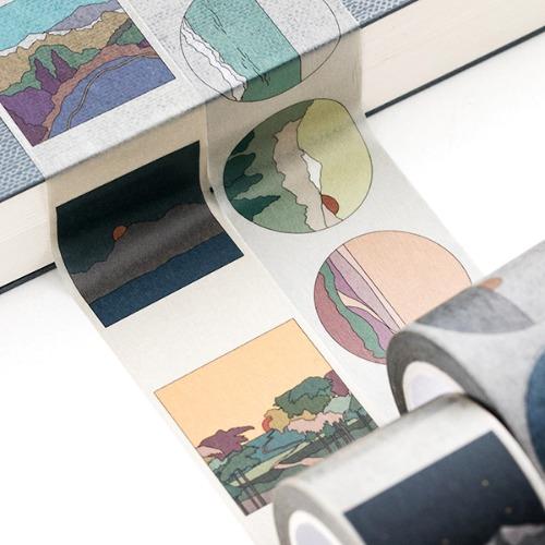 Life & Pieces Paper Tape (4 Color)-30mm Set