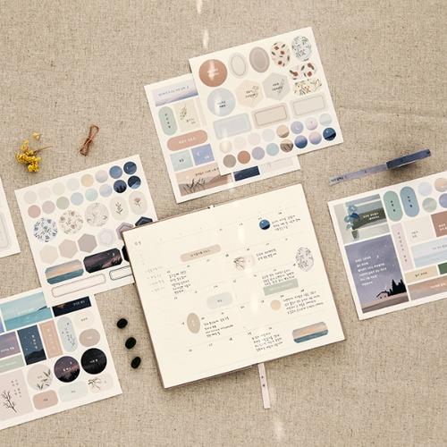 Deep Time, Illustrated Poem Sticker (3 Sheets) Set of 4