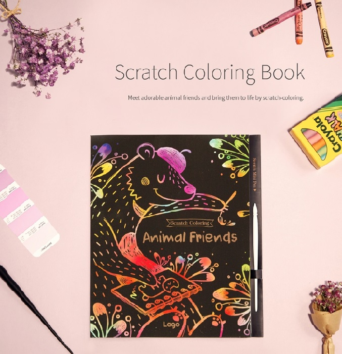 Scratch Coloring Animal Friends