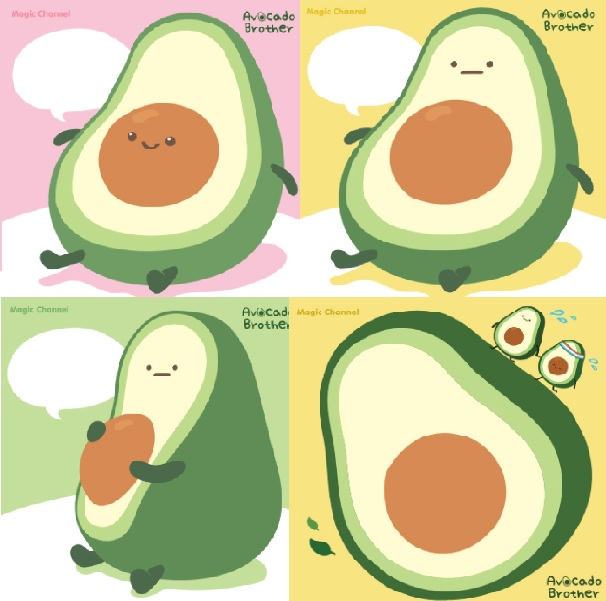 Avocado Brother Memo Pad
