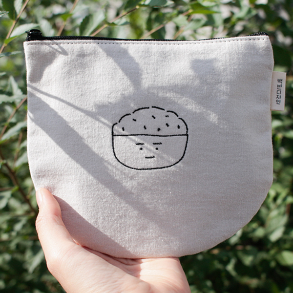 Baek Ban embroidered pouch