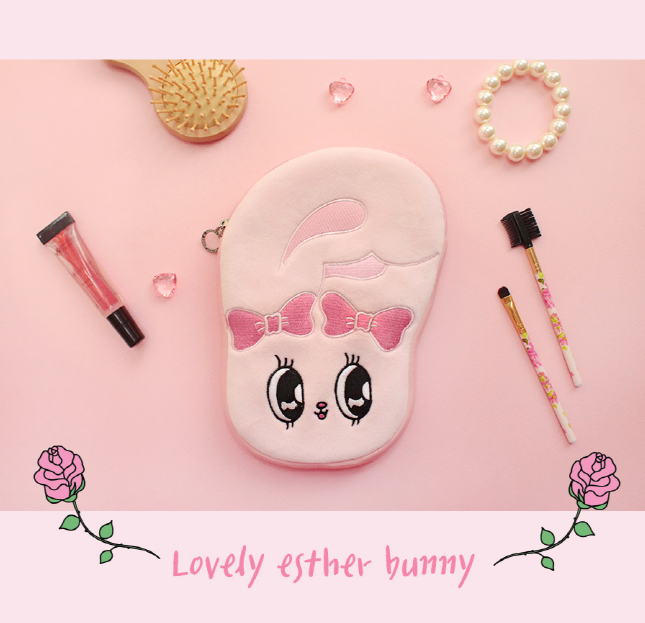 Esther Bunny Neoprene Face Pouch