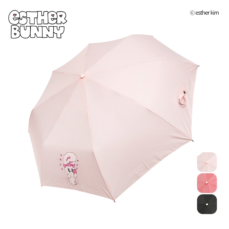 Esther Bunny Heart Heart Fully Automatic Umbrella