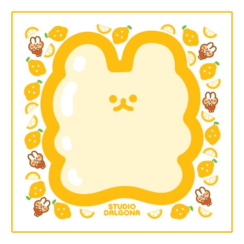 Dalgona Lemon Jelly Bear Memopad