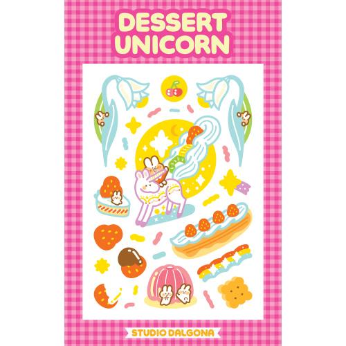 Dalgona Rimless Dessert Unicorn Sticker